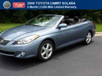 CERTIFIED 2006 Toyota Camry Solara SE Comes with a full