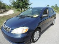 2006 Toyota Corolla CE 1.8l 4L blue exterior with gray