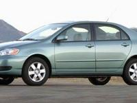 This 2006 Toyota Corolla LE is offered to you for sale