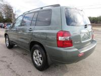 Options:  2006 Toyota Highlander W/3Rd Row|Oasis Green