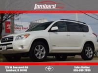 Options:  2006 Toyota Rav4 Limited Awd|Blizzard White