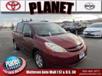 2006 Toyota Sienna XLE Burgundy ABS brakes, Bumpers: