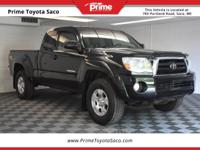 2006 Toyota Tacoma in Black Sand Pearl, With these