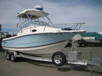 2006 Triton 2486 WA Offshore Fishing equipped with twin