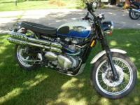 This is a near showroom condition Triumph Scrambler 900