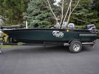 Tuffy GT1760 fishing boat with Suzuki DF70 four stroke.