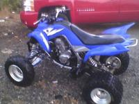2006 Yamaha Raptor 700R, all blue in color, excellent