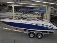 2006 YAMAHA SX 230 JET BOAT WITH TWIN MOTORS AND NEW
