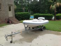2006 Zodiac Pro jet Inflatable with new trailer.