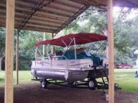 A nice pontoon with a stern drive engine! This 25 foot