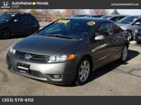 This 2006 Honda Civic Cpe comes with a CARFAX Buyback