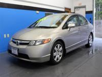 CARFAX One-Owner. Silver 2006 Honda Civic LX FWD