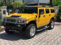 SUPER LOW MILE YELLOW HUMMER H2 SUV Yellow with Chrome