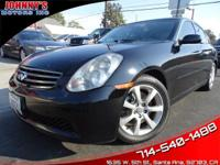 2006 INFINITI G35!! LEATHER SEATS!! POWER SEATS!! CLEAN