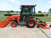 2006 KUBOTA B3030 4X4 CAB TRACTOR WITH LOADER &