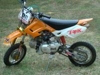 This off Road Dirt Bike is a 2007. it's 49cc Engine.