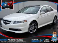 TAKE A LOOK AT THIS 2007 WHITE DIAMOND PEARL ACURA TL