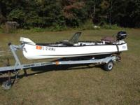 We have a nice 13' gheenoe for sale. It has a 3.5hp