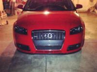 I have an Audi A3 competing red with black rims up for
