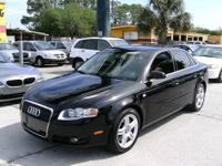 Black on black!!! This sporty extra clean 2007 Audi A4