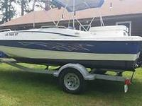 2007 BAYLINER 197 DECK BOAT WITH MERCRUISER 3.0 4