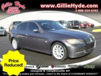Price Reduction!PREMIUM KEY FEATURES ON THIS 2007 BMW 3