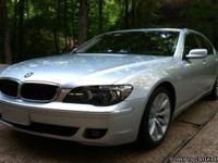 2007 BMW 750I LOADED WITH MANY OPTIONS. VEHICLE HAS