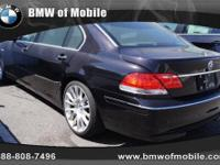 BMW of Mobile presents this 2007 BMW 7 SERIES 4DR SDN