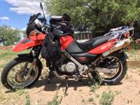 2007 BMW F650GS Enduro Motorcycle, 14k miles, 60MPG,