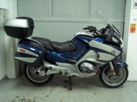 2007 BMW R1200RT metallic blue, 38k miles.This is a