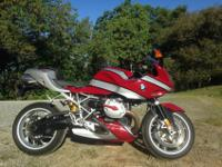 2007 BMW R1200S Red/ Black-Never down, parked and