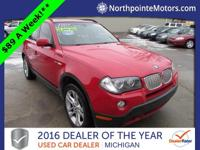 Options:  2007 Bmw X3 3.0Si Red We Finance!  Character