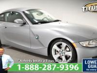 Recent Arrival! New Price! 2007 BMW Z4, Silver,