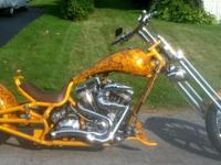ONE-OF-A-KIND Custom Chopper produced by Bourget Bike