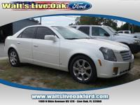 Clean CARFAX 2007 Cadillac CTS 3.6L V6 SFI VVT White