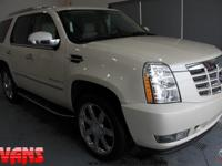 CARFAX One-Owner. WHITE 2007 Cadillac Escalade AWD