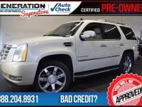 AWD, White, and 2007 Cadillac Escalade. Navigation!