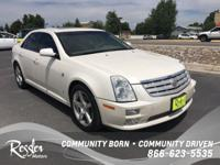 This White 2007 Cadillac STS is powered by a 4.6L V8