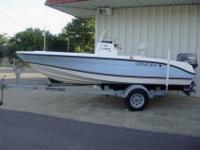 CENTURY 1701 CENTER CONSOLE BAY BOAT. THE BLUE AND