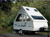 Lightly used A-frame folding travel trailer -- easy to