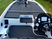 2007 champion 20ft bassboat w/225 optimax engine,24