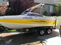 2007 Chaparral 210 SSI (yellow/white). 21 FT Open Bow