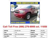 2007 Chevrolet Avalanche1500 LS 4x4 Crew Cab Red V8