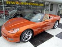 2007 Corvette Convertible Atomic Orange with Tan