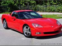 2007 Chevrolet Corvette in Red with Black leather