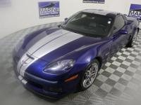 New Price! Clean CARFAX. Blue 2007 Chevrolet Corvette