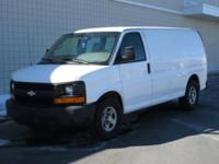 You are looking at a White, 2007 Chevrolet Express Van.