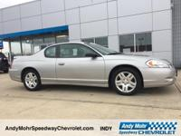 Just Reduced! Silver 2007 Chevrolet Monte Carlo LT