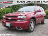 Clean CARFAX. Red 2007 Chevrolet TrailBlazer SS 4D