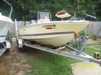 2007 clear water boat 19', 115 yahama four stroke eng,